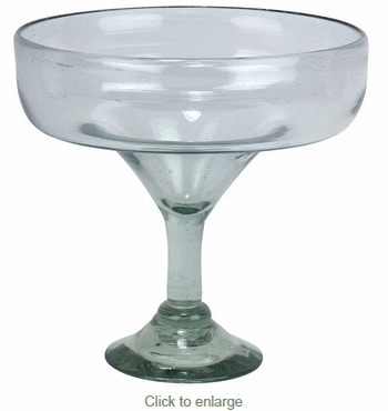 Hand Blown Giant Margarita Glass - Set of 2