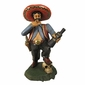 Hand Carved Painted Wood Pancho Villa Statue