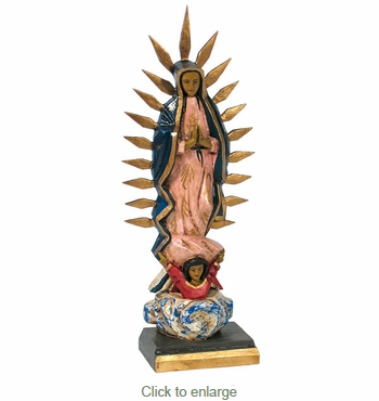 Hand Carved Virgin Statue with Spikes
