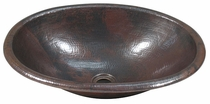 Hand Hammered Copper Sink - Round Edge