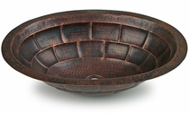Hand Hammered Copper Sink - Turtle Design