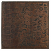 6 Inch Hand Hammered Copper Tiles