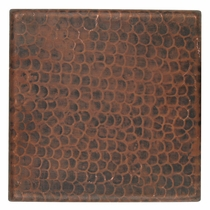 4 Inch Hand Hammered Copper Tiles