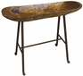 Hand Hewn Dough Bowl with Iron Stand