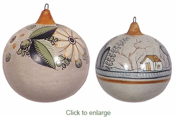 Hand Painted Clay Ball Ornaments