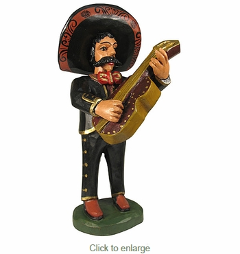Hand Painted Wood Mariachi - Bass Guitar