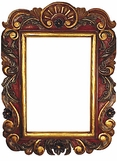 Hand Painted Folk Art Wooden and Tin Frames