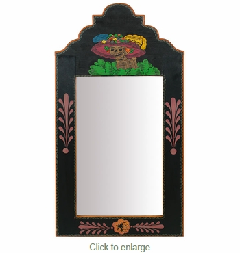 Handpainted Katrina Day of the Dead Mirror