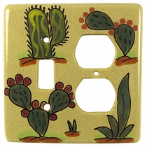Handpainted Talavera Switch and Outlet Cover - Desert Scene