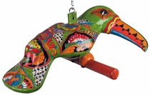 Hanging Talavera Toucan with Chain