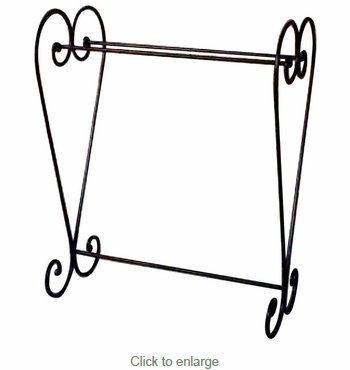 Wrought Iron Heart Blanket Stand