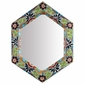 "Hexagonal Talavera Mirror - 16.5"" x 21.5"""