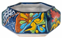 Hexagonal Talavera Planter