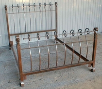 Hitching Post Forged Iron Bed