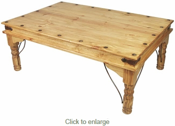 Indian Coffee Table Rustic Mexican Pine