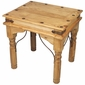 Indian Mexican Pine End Table