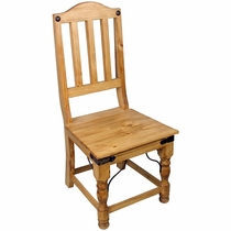 Rustic Pine Indian Mexican Dining Chair