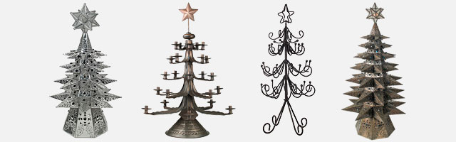 Metal Christmas Tree.Iron And Tin Christmas Trees