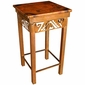 Iron Petroglyph Side Table with Copper Top - Medium
