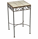 Iron Side Tables & Patio Furniture With Talavera Tile