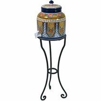 Iron Talavera Water Dispenser Stand