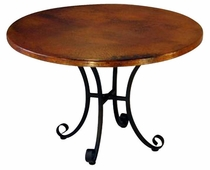 Italian Dining Table with Hammered Copper Top