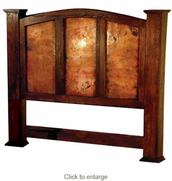 Kendra Headboard with Copper Panels - Queen - King