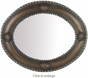 Large Aged Tin Concho Mirror