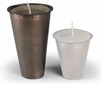 Large Aged Tin Inserts for Sugar Mold Candle Holders