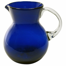 Large Cobalt Blue Mexican Water Pitcher