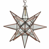 Mexican Hanging Star Lights - Punched Tin Moravian Star Fixtures