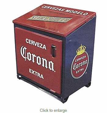 Large Corona Ice Chest Blue-Red