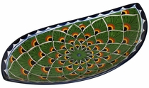 Large Curved Talavera Peacock Serving Platter