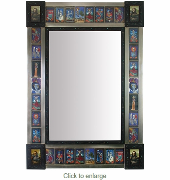 Large Day Of The Dead Mirror
