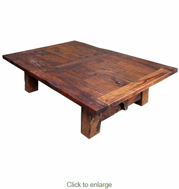 Large Distressed Mesquite Coffee Table Two Sizes Available