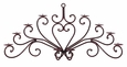Large Elegant Wrought Iron Wall Candleholder