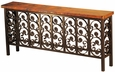 Large Elena Iron Base Console with Copper Top