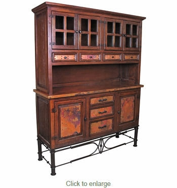 Large Francisco Console with Pablo Base and Hutch