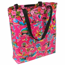 Large Lined Mexican Oilcloth Bag