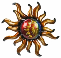 "Large Metal Southwest Sun Wall Art - 36"" Dia."