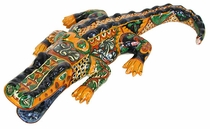 Large Mexican Talavera Alligator