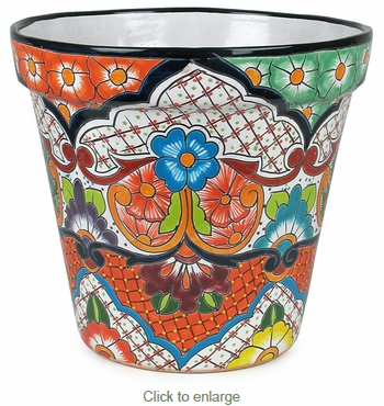 Large Mexican Talavera Flower Pot Assorted