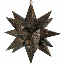 "Large Moravian Star Light - Punched Tin 18"" Dia."