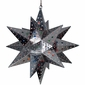 Large Natural Tin Stained Glass Star Fixture