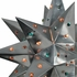 Large Natural Tin Star Light with Colored Marbles