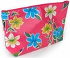 Large Oilcloth Cosmetic or Travel Bag