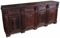 Large Old World Carved Mesquite Buffet