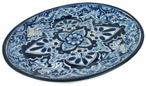 Large Oval Talavera Serving Platter - Blue & White