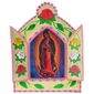 Large Painted Tin Nicho with Our Lady of Guadalupe Print