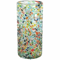 Large Pebbled Confetti Mexican Drink Glass  - Set of 4